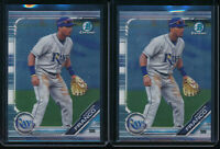 Lot of (2) WANDER FRANCO 2019 Bowman Chrome Draft Tampa Bay Rays Rookie Card RC