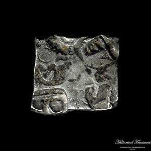 Ancient India Punch-marked Coinage - Karshapana - Weight: 3,28 grams.