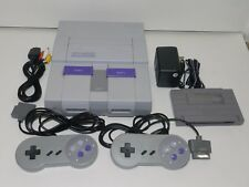 Super Nintendo SNES System Console SNS-001 Complete Tested + Free Game Warranty