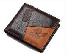 NEW Mens Genuine Leather Wallet Famous Brand Men S Coin credit ID Card Holder