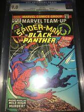 Marvel Team-Up #20 CGC 9.0 - Spider-Man & Black Panther vs Stegron - 1974