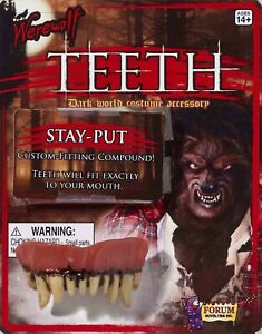Werewolf Teeth Fangs Custom Fitting Halloween Costume Monster Accessory Prop New