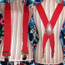 "48""x 2"" (5'9""-6'2"") CARHARTT Suspenders Festive RED Dapper Farmer Logger"