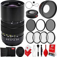 Oshiro 135mm f/2.8 Telephoto Lens for Nikon DSLR Camera & 7 Piece Bundle