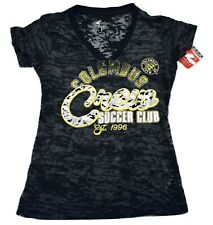 G-III 4 Her MLS Columbus Crew Soccer Burnout Shirt New L