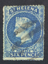 MOMEN: ST HELENA SG #2a ROUGH 1861 USED £140 LOT #5175