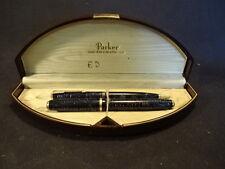 Old Vtg 1940's Parker Vacumatic Fountain Pen & Pencil Set Original Box