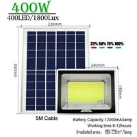 400w LED white solar spot light solar panel lamp remote control outdoor lamps
