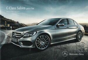 Mercedes-Benz C-Class Saloon Price List Brochure Effective April 2014 AMG/SE/Spo