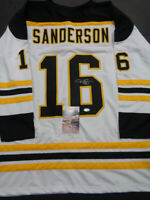 Derek Sanderson Boston Bruins Autographed Signed White Style Jersey XL coa-JSA