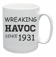 88th Novelty Birthday Gift Present Tea Mug Wreaking Havoc Since 1931 Coffee Cup
