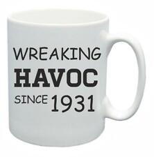 87th Novelty Birthday Gift Present Tea Mug Wreaking Havoc Since 1931 Coffee Cup