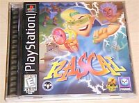 Rascal Original Sony PlayStation 1 ps1 psx ps one game Complete in case CIB