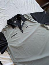 Mens Nike Golf Tour Performance Polo Shirt, Dri-Fit, Black & Grey, Size XXL