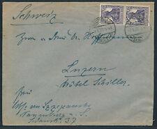 Dt. Reich 15 Pf. Germania 1917 MeF Beleg gute Farbe Michel 101 c geprüft (S12660