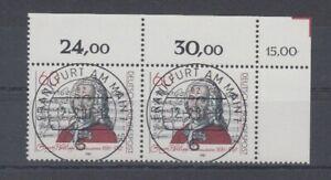 Bund  1085  Telemann  waagerechtes Paar  KBWZ Tagesstempel Frankfurt ** (mnh)