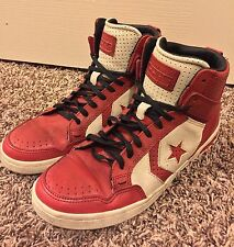 Limited Edition Converse X Weapon John Varvatos Red White Men's 7.5 Women's 9