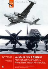 Dutch Decals 1/72 LOCKHEED P2V-5 NEPTUNE in Dutch Navy Service