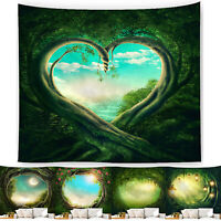 Art Fantasy Forest Fairy Tale Tapestry Bedspread Throw Dorm Wall Hanging Decor
