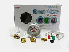 OBX Universal 52mm White Face Gauge Meter Boost (Style 1)