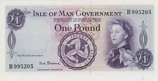 More details for p25b isle of man one pound banknote in mint condition issued in 1961 signature 2