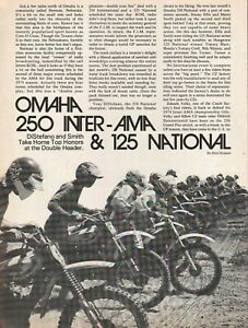 1975 Omaha 250 Inter-AMA & 125 Motocross - 5-Page Vintage Motorcycle Article