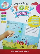 Educational Childs Write a Story Book Wipe Clean Reusable Create Write Spell Boy