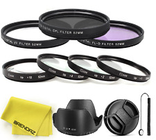 Close-Up Macro Filter Set +1 +2 +4 +10+ UV, CPL, FLD Lens Hood f NIKON 52mm Lens