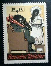 Cinderella Poster Stamp Reklamemarke-E&K Weeping Raven Injured Foot-202028
