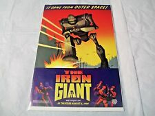 The Iron Giant Promo Comic  Bagged and boarded Warner Bros. In theaters 1999
