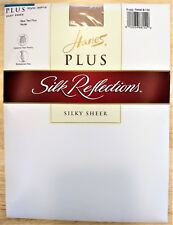 Hanes Plus Silk Reflections Silky Sheer Nude Control Top Size 2 Plus Two Plus