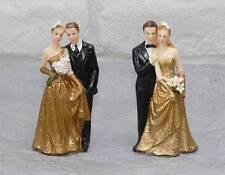 Tortenfigur Dekofigur Tortendeko Figur Brautpaar goldene Hochzeit Hochzeitspaar