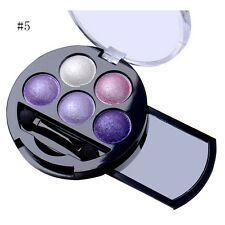 5 Mixed Color Glitter Powder Eyeshadow Makeup Metallic Eye Shadow Cosmetics new