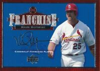 2001 Upper Deck Franchise #F2 St Louis Cardinals Mark McGwire
