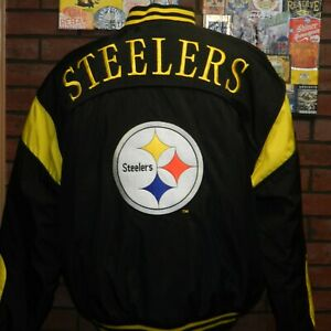 Vintage Pittsburgh Steelers Team NFL Football Puffy Jacket Nutmeg by Campri XL