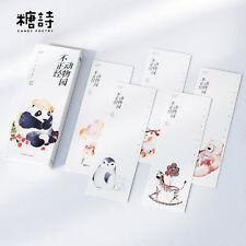 30pc/Box Funny Animals Bookmark Book Mark Magazine Note Pad Label Memo School
