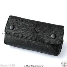 Black Soft Smoking Pipe Case Tobacco Bag Pouch Tamper Filter Tool Cleaner
