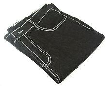 DG2 Boot Cut Jeans Contrast Topstitching BLACK 4T 4 Tall Stretch Denim Inseam 32