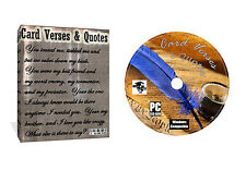 7000 + Card Verses and Quotes on CD + Everything For Card Making Arts & Crafts