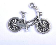 30Pcs Tibetan Silver Bike Charms Pendants 26MM SH143