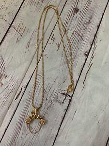 14K Yellow Gold #1 MOM charm holder pendant