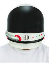 Deluxe Adult White Apollo Astronaut Space Helmet With Black Visor Accessory