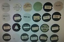 Western Electric telephone dial centers, card stock dial cards number cards. 1