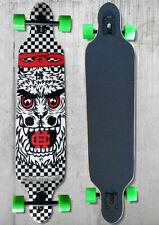 Longboard Teamsix Skateboard - Design A con cuscinetti ultra precisi ABEC11