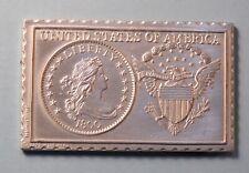 1800 United States Draped Bust 1/2 Half Dime Numistamp Medal 1979 Mort Reed