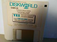 "ITHistory (1990) Apple Software: DISKWORLD Sampler (Softdisk) 3.5"" No Manual"