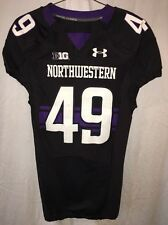 Game Worn Northwestern Wildcats Football Jersey Used Under Armour #49 WILLIAMS