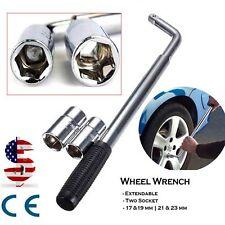 17 19 21 23mm HEAVY DUTY Extendable Wheel Car Brace Socket Tyre Nut Wrench 21''