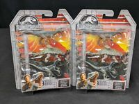 Mattel Jurassic World Mini Action Dinos 3 PACK Set of 2 Exclusive Velociraptor