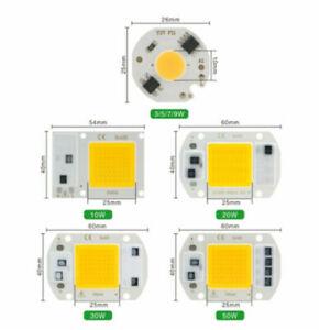 LED COB 10W 20W 30W 50W 220V Smart IC No Need Driver 3W 5W 7W 9W LED Bulb Lamp